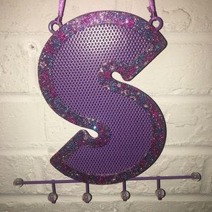 S letter Claire's earring jewelry organizer